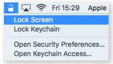 Apple Mac Lock Screen